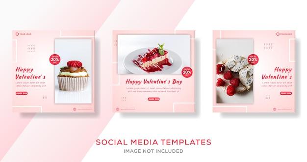 Modello di banner torta di san valentino