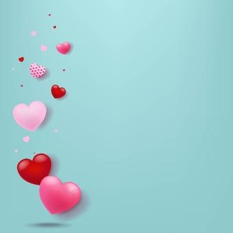 Carta di san valentino con i cuori