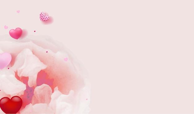 Carta di san valentino con rosa