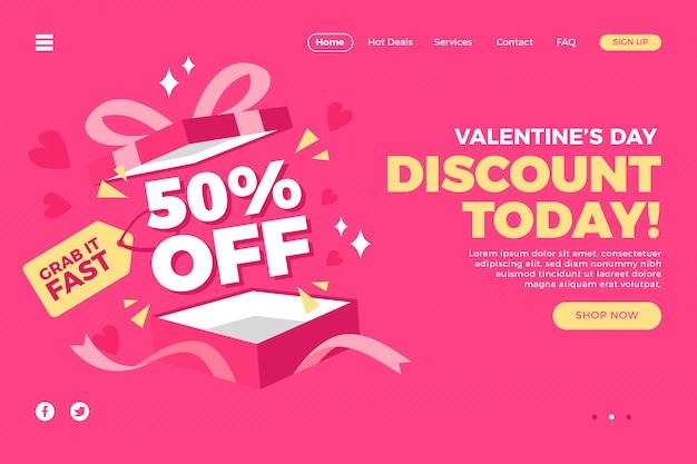 Vendita di landing page per san valentino