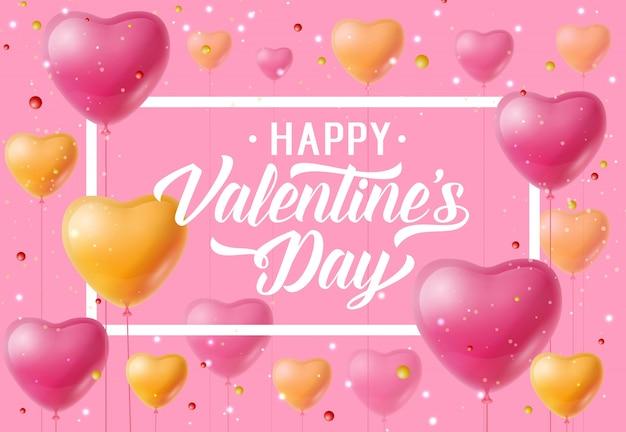 Lettering di san valentino con palloncini