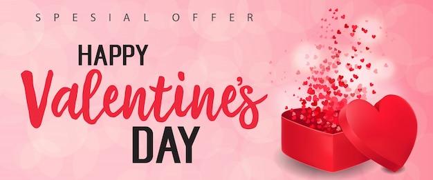 Lettering di san valentino con confezione regalo