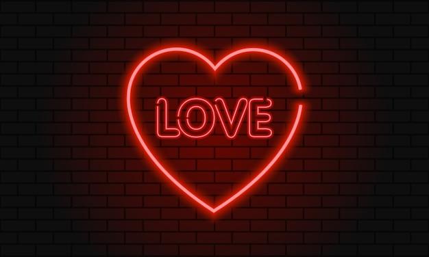 San valentino amore al neon.