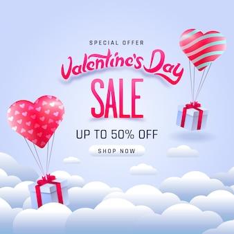 Poster di vendita di san valentino.