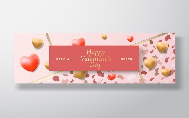 Saluto o cartolina d'auguri di vettore dell'estratto di vendita di offerta speciale di san valentino