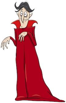 Vampiro halloween personaggio dei cartoni animati illustrazione