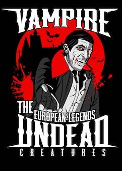 Poster di vampiri Vettore Premium