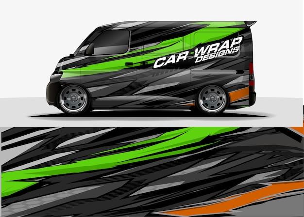 Fondo grafico del furgone. linee moderne astratte concetto di design per auto e veicoli grafica involucro in vinile