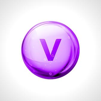 Design medico minerale vanadio. vitamina organica, illustrazione di nutrienti. dieta sana, nutrizione ..