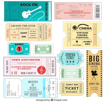 Varietà di biglietti