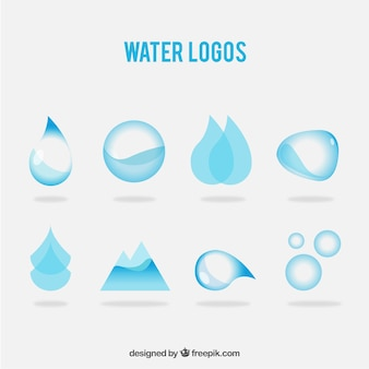 Varietà di loghi acqua