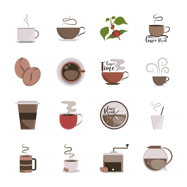 Vari disegni di caffè
