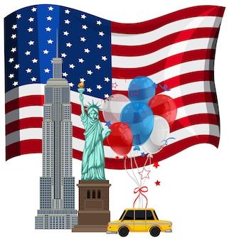 Vari dei punti di riferimento di new york