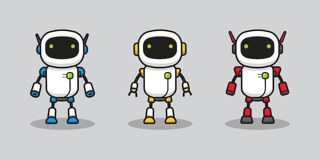 Vari robot con colore diverso