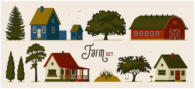 Varie case rurali