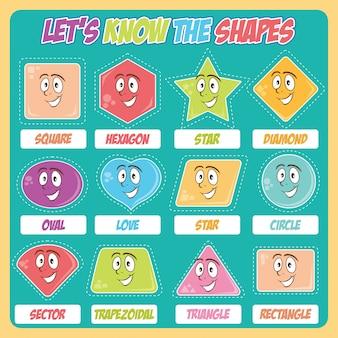 Varie forme per bambini e scuola materna