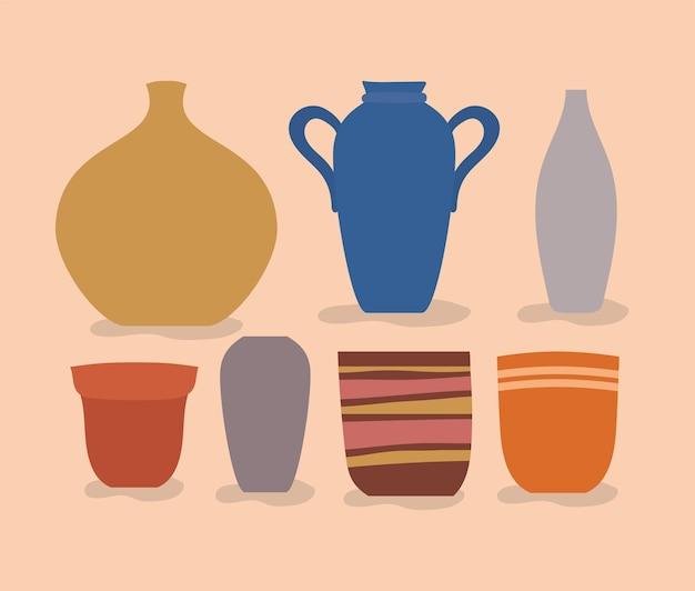 Set di disegni di vasi