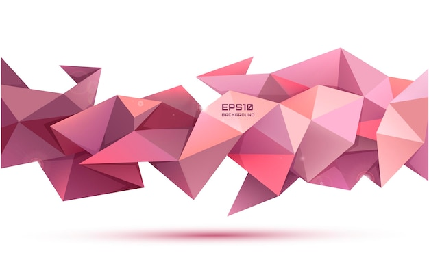 Forma geometrica astratta di sfaccettatura di vettore 3d. utilizzare per banner, web, brochure, annunci, poster, ecc. sfondo in stile moderno low poly