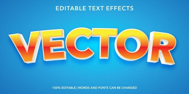 Effetto di testo modificabile di stile 3d vettoriale