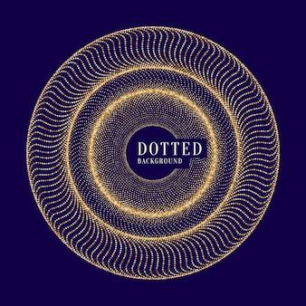 Fondo astratto di vettore con linee dinamiche colorate e particelle. illustrazione adatta per il design. glitter oro
