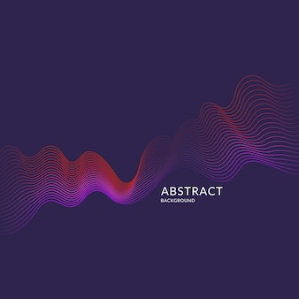 Fondo astratto di vettore con onde dinamiche, linea e particelle. illustrazione adatta per il design