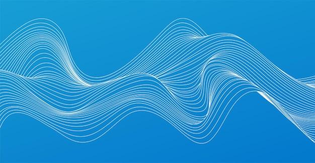 Linee d'onda fluenti colorate astratte di vettore elemento di design per tecnologia, scienza, concetto moderno.
