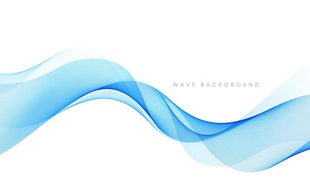Linee d'onda fluenti colorate astratte vettoriali isolate su elemento di design sfondo bianco per tecno...