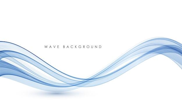 Linee d'onda fluenti colorate astratte vettoriali isolate su elemento di design di sfondo bianco per il concetto moderno di scienza della tecnologia