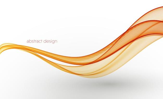 Linee d'onda fluenti colorate astratte vettoriali isolate su sfondo bianco elemento di design per matrimonio ...