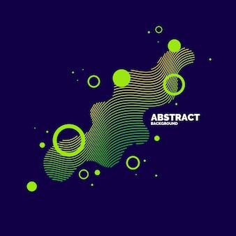 Elementi astratti di vettore con onde dinamiche. illustrazione adatta per il design