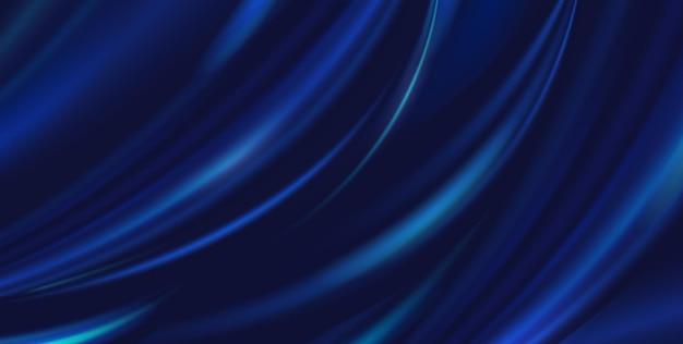 Panno blu di lusso astratto del fondo di vettore. texture di seta, onda liquida, carta da parati elegante con pieghe ondulate. materiale in velluto satinato con illustrazione realistica