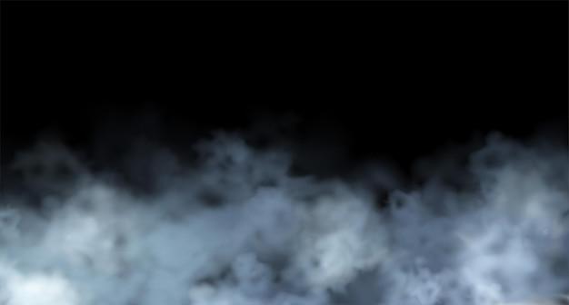 Elemento di disegno della nuvola di nebbia realistica astratta di vettore