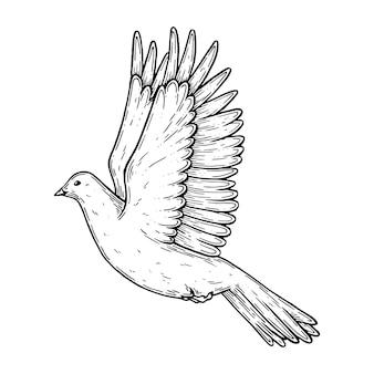 Illustrazione artistica vettoriale realizzata a mano con penna e inchiostro