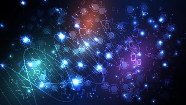Sfondo vettoriale dalla struttura molecolare della molecola del dna. env 10.