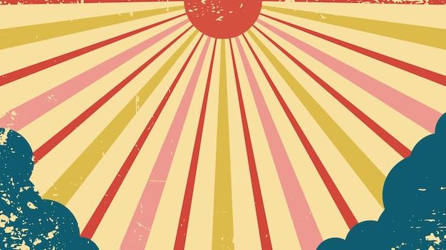 Sfondo vettoriale in stile retrò circo del sole retrò