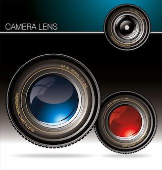 Vector background con la macchina fotografica e posto per il testo