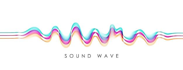 Sfondo vettoriale con onda di miscela astratta di colore