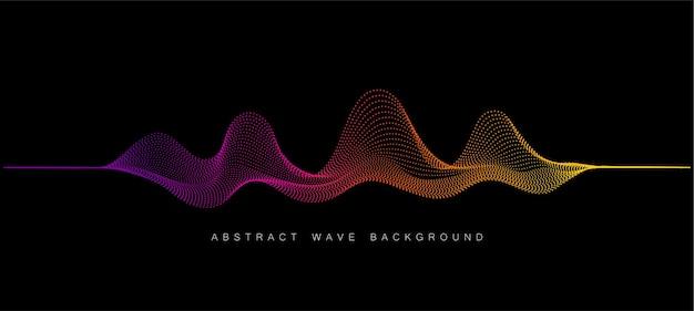 Sfondo vettoriale con punti di onda astratta di colore
