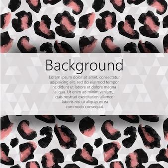 Fondo di vettore con spazio per testo e decorazioni modello triangolo leopardo pelliccia. il libretto di progettazione del modello, brochure, banner, documento. vettore, eps10.