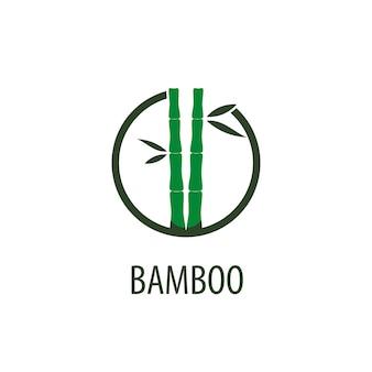 Logo di bambù vettoriale