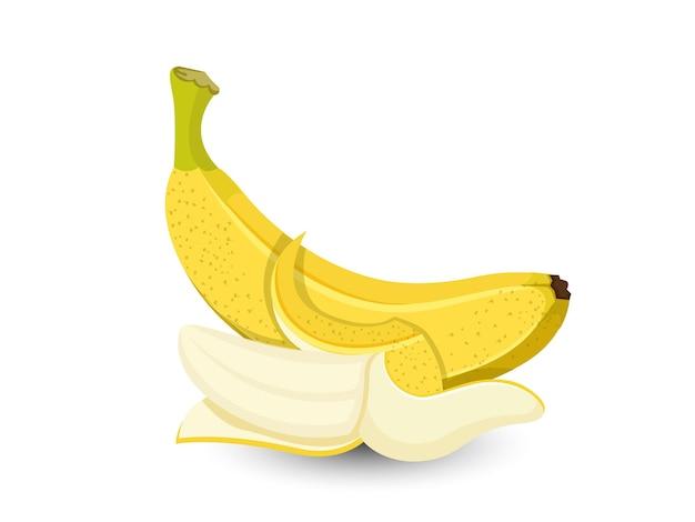 Frutti della banana di vettore isolati su fondo bianco, vettore, illustrazione