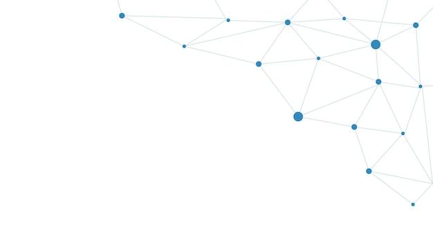 Progettazione di banner vettoriali, tecnologia di illustrazione con motivo geometrico su sfondo blu scuro. moderno concetto di tecnologia digitale hi-tech. comunicazione internet astratta, design tecnologico della scienza del futuro