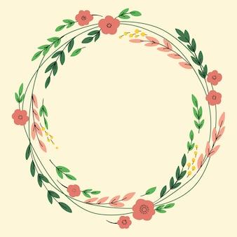 Banner design vettoriale con fiori e posto per il testo