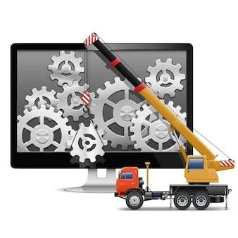 Progettazione web di computer di base vettoriale