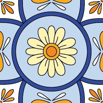 Vector bellissimo sfondo di piastrelle ornamentali senza soluzione di continuità.