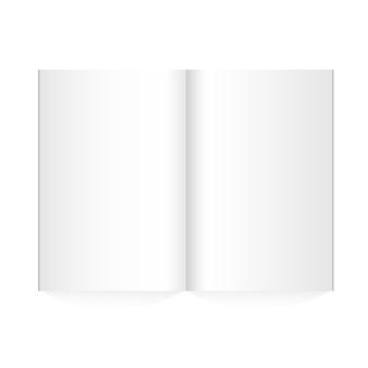 La rivista in bianco di vettore si è sparsa su fondo bianco