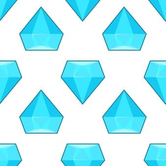 Modello senza cuciture dei diamanti blu di vettore