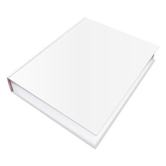 Modello di libro vettoriale con copertina vuota, illustrazione del modello