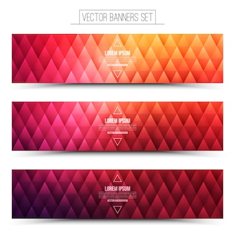 Vector bright web banners set