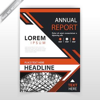 Modello di brochure vettoriale